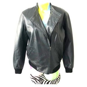 Mural Leather Jacket Size XS